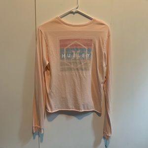 Light Pink Hurley Crop Top